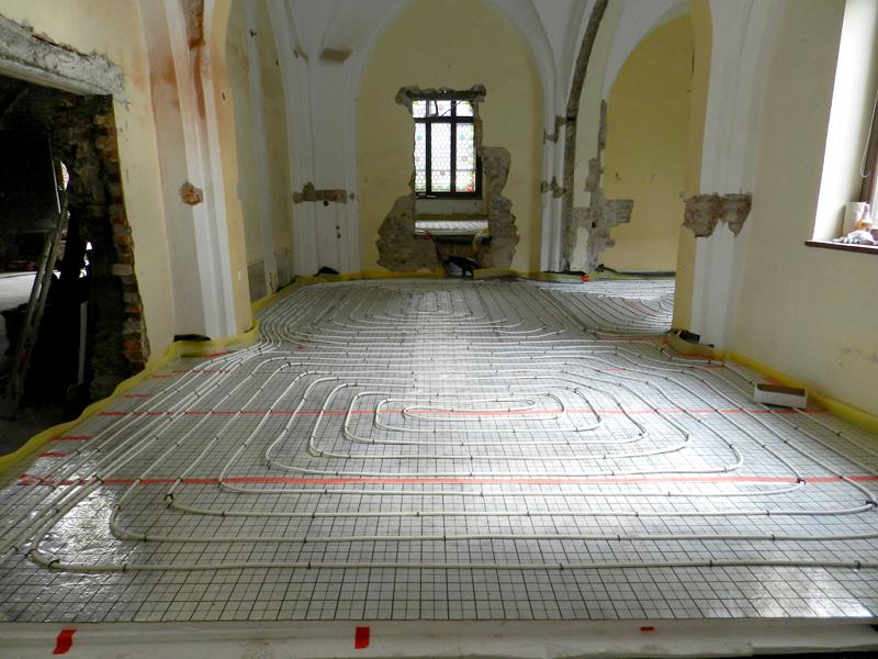 Zdjęcie ogrzewania podłogowego