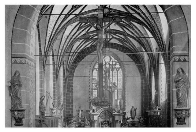 Archiwalne zdjęcie prezbiterium