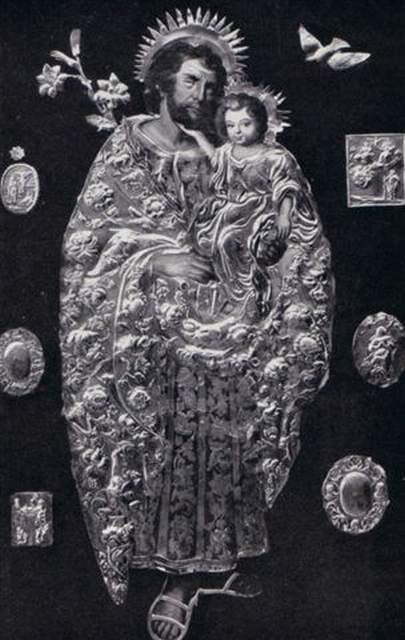 Archiwalne zdjęcie obrazu kościoła św. Józefa