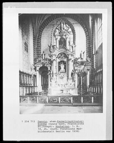 Archiwalne zdjęcie ołtarza